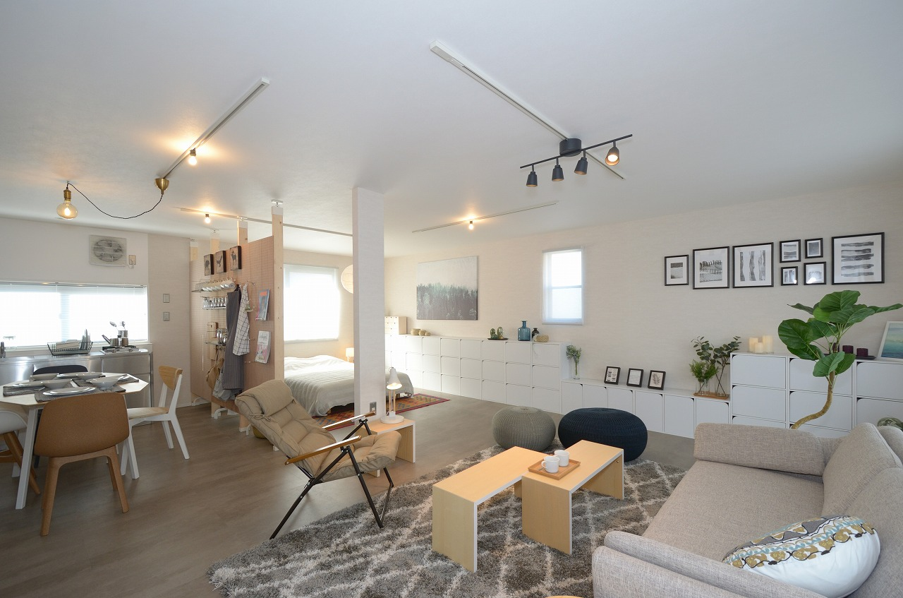 築32年の3DKのアパートを広々ワンルームにリノベーション